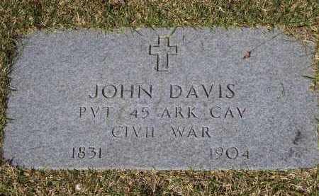 DAVIS (VETERAN CSA), JOHN M. - Lawrence County, Arkansas | JOHN M. DAVIS (VETERAN CSA) - Arkansas Gravestone Photos