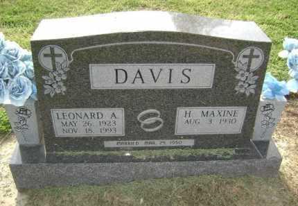 DAVIS, LEONARD ALAN - Lawrence County, Arkansas | LEONARD ALAN DAVIS - Arkansas Gravestone Photos