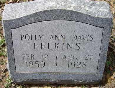 "FELKINS, MARY ANN KING DAVIS ""POLLY"" - Lawrence County, Arkansas 