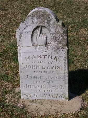 MCCARROLL DAVIS, MARTHA - Lawrence County, Arkansas | MARTHA MCCARROLL DAVIS - Arkansas Gravestone Photos