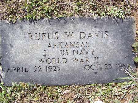 DAVIS (VETERAN WWII), RUFUS WINFARD - Lawrence County, Arkansas | RUFUS WINFARD DAVIS (VETERAN WWII) - Arkansas Gravestone Photos