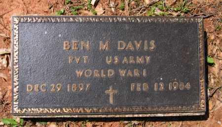 "DAVIS (VETERAN WWI), BENJAMIN MORRIS ""BEN M"" - Lawrence County, Arkansas | BENJAMIN MORRIS ""BEN M"" DAVIS (VETERAN WWI) - Arkansas Gravestone Photos"