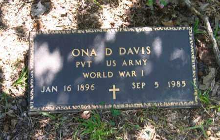 DAVIS (VETERAN WWI), ONA DREW - Lawrence County, Arkansas | ONA DREW DAVIS (VETERAN WWI) - Arkansas Gravestone Photos