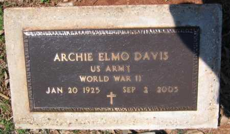 DAVIS (VETERAN WWII), ARCHIE ELMO - Lawrence County, Arkansas | ARCHIE ELMO DAVIS (VETERAN WWII) - Arkansas Gravestone Photos