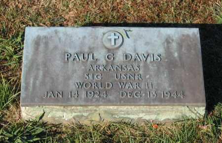 DAVIS (VETERAN WWII), PAUL G - Lawrence County, Arkansas | PAUL G DAVIS (VETERAN WWII) - Arkansas Gravestone Photos