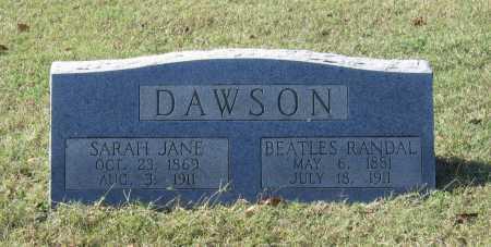 "DAWSON, BERTHA ""BEATLES RANDAL"" - Lawrence County, Arkansas | BERTHA ""BEATLES RANDAL"" DAWSON - Arkansas Gravestone Photos"