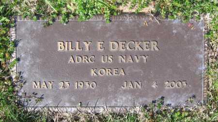 DECKER (VETERAN KOR), BILLY E - Lawrence County, Arkansas | BILLY E DECKER (VETERAN KOR) - Arkansas Gravestone Photos