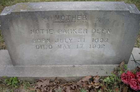 DEEN, NOTIE PARKER - Lawrence County, Arkansas | NOTIE PARKER DEEN - Arkansas Gravestone Photos