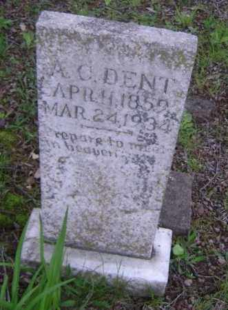 """DENT, ALBERT CHARLES """"A. C."""" - Lawrence County, Arkansas 