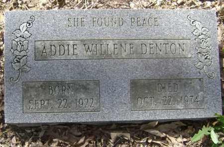 DENTON, ADDIE WILLENE - Lawrence County, Arkansas   ADDIE WILLENE DENTON - Arkansas Gravestone Photos