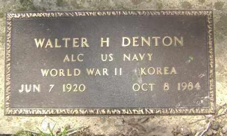 DENTON (VETERAN 2 WARS), WALTER H - Lawrence County, Arkansas   WALTER H DENTON (VETERAN 2 WARS) - Arkansas Gravestone Photos