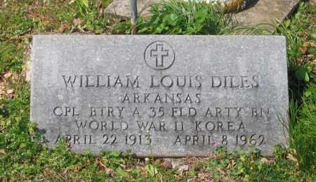 DILES (VETERAN 2 WARS), WILLIAM LOUIS - Lawrence County, Arkansas | WILLIAM LOUIS DILES (VETERAN 2 WARS) - Arkansas Gravestone Photos