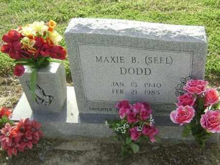 SEEL DODD, MAXIE B. - Lawrence County, Arkansas | MAXIE B. SEEL DODD - Arkansas Gravestone Photos