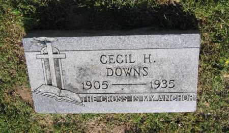 DOWNS, CECIL H. - Lawrence County, Arkansas | CECIL H. DOWNS - Arkansas Gravestone Photos
