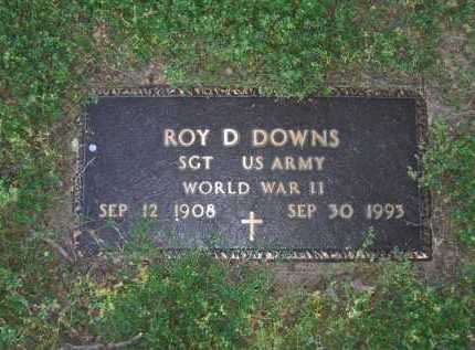 DOWNS (VETERAN WWII), ROY D. - Lawrence County, Arkansas | ROY D. DOWNS (VETERAN WWII) - Arkansas Gravestone Photos