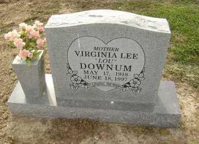 "DOWNUM, VIRGINIA LEE ""LOU"" - Lawrence County, Arkansas   VIRGINIA LEE ""LOU"" DOWNUM - Arkansas Gravestone Photos"