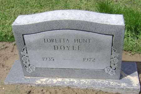 HUNT DOYLE, LORETTA - Lawrence County, Arkansas | LORETTA HUNT DOYLE - Arkansas Gravestone Photos