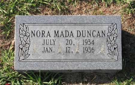 DUNCAN, NORA MADA - Lawrence County, Arkansas | NORA MADA DUNCAN - Arkansas Gravestone Photos
