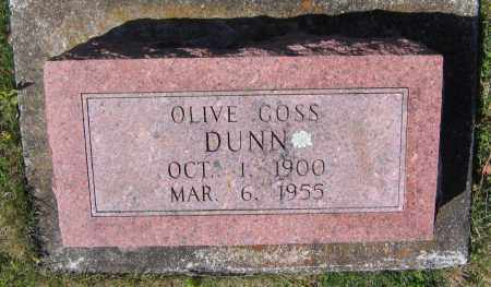 GOSS DUNN, OLIVE - Lawrence County, Arkansas | OLIVE GOSS DUNN - Arkansas Gravestone Photos