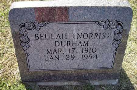NORRIS DURHAM, BEULAH - Lawrence County, Arkansas | BEULAH NORRIS DURHAM - Arkansas Gravestone Photos