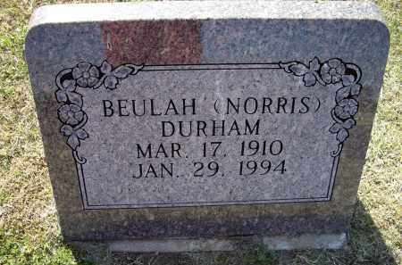 NORRIS DURHAM, BEULAH - Lawrence County, Arkansas | BEULAH NORRIS DURHAM - Arkansas Gravestone Photos