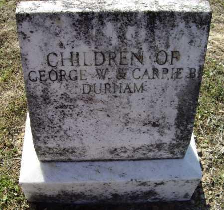 DURHAM, CHILDREN - Lawrence County, Arkansas   CHILDREN DURHAM - Arkansas Gravestone Photos