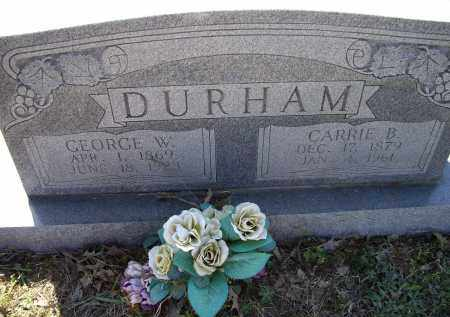 DURHAM, GEORGE WASHINGTON - Lawrence County, Arkansas | GEORGE WASHINGTON DURHAM - Arkansas Gravestone Photos