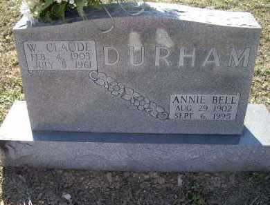 DURHAM, WILLIAM CLAUDE - Lawrence County, Arkansas | WILLIAM CLAUDE DURHAM - Arkansas Gravestone Photos