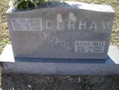 DURHAM, WILLIAM CLAUDE - Lawrence County, Arkansas | WILLIAM CLAUDE DURHAM - Arkansas Gravestone Photos