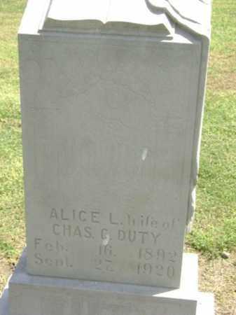 DUTY, ALICE L. - Lawrence County, Arkansas   ALICE L. DUTY - Arkansas Gravestone Photos