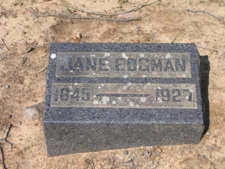 EDGMAN, JANE - Lawrence County, Arkansas | JANE EDGMAN - Arkansas Gravestone Photos