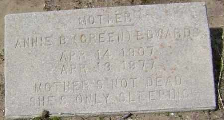 GREEN EDWARDS, ANNIE BELLE - Lawrence County, Arkansas | ANNIE BELLE GREEN EDWARDS - Arkansas Gravestone Photos