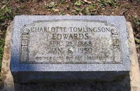 TOMLINGSON EDWARDS, CHARLOTTE - Lawrence County, Arkansas | CHARLOTTE TOMLINGSON EDWARDS - Arkansas Gravestone Photos