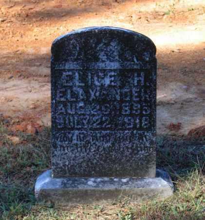 ELAXANDER, ELIGE H. - Lawrence County, Arkansas | ELIGE H. ELAXANDER - Arkansas Gravestone Photos