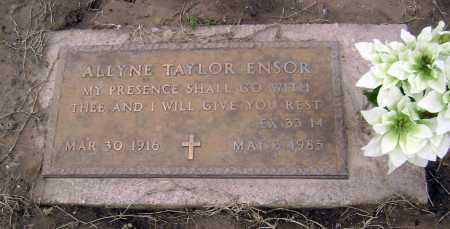 ENSOR, ALLYNE - Lawrence County, Arkansas | ALLYNE ENSOR - Arkansas Gravestone Photos