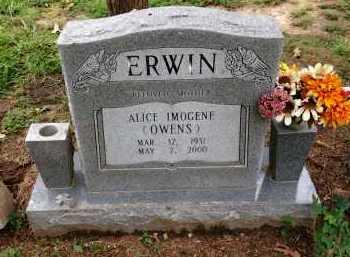 ERWIN, ALICE IMOGENE - Lawrence County, Arkansas | ALICE IMOGENE ERWIN - Arkansas Gravestone Photos