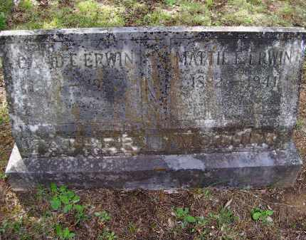 ERWIN, DAVID ELISHA - Lawrence County, Arkansas | DAVID ELISHA ERWIN - Arkansas Gravestone Photos