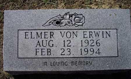 ERWIN, ELMER VON - Lawrence County, Arkansas | ELMER VON ERWIN - Arkansas Gravestone Photos