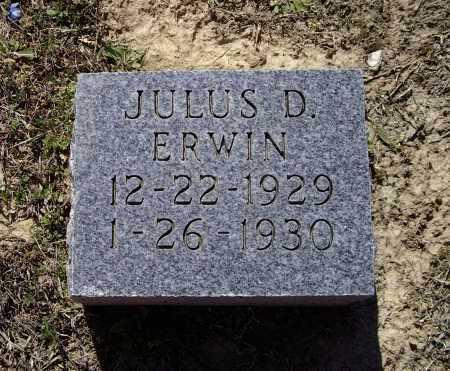 ERWIN, JULIUS D. - Lawrence County, Arkansas | JULIUS D. ERWIN - Arkansas Gravestone Photos