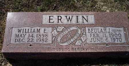 ERWIN, WILLIAM ELMER - Lawrence County, Arkansas | WILLIAM ELMER ERWIN - Arkansas Gravestone Photos