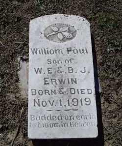 ERWIN, WILLIAM PAUL - Lawrence County, Arkansas   WILLIAM PAUL ERWIN - Arkansas Gravestone Photos