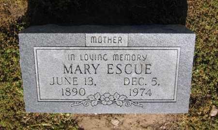 ESCUE, MARY - Lawrence County, Arkansas | MARY ESCUE - Arkansas Gravestone Photos