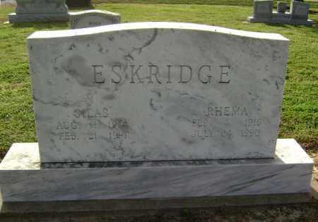 ESKRIDGE, SILAS - Lawrence County, Arkansas | SILAS ESKRIDGE - Arkansas Gravestone Photos