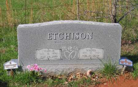 ETCHISON, MADIA AUGUSTA - Lawrence County, Arkansas | MADIA AUGUSTA ETCHISON - Arkansas Gravestone Photos