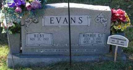 EVANS, MONROE G. T. - Lawrence County, Arkansas | MONROE G. T. EVANS - Arkansas Gravestone Photos