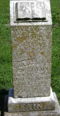 FAIN, EMMA - Lawrence County, Arkansas   EMMA FAIN - Arkansas Gravestone Photos