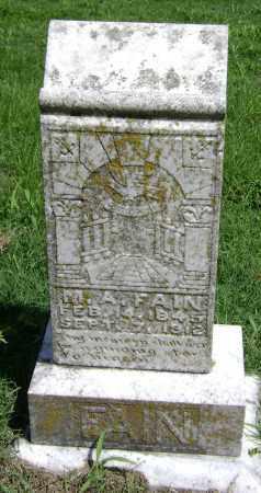 FAIN, MELVINA  A - Lawrence County, Arkansas | MELVINA  A FAIN - Arkansas Gravestone Photos