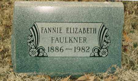 FAULKNER, FANNIE ELIZABETH - Lawrence County, Arkansas | FANNIE ELIZABETH FAULKNER - Arkansas Gravestone Photos