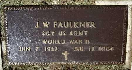 "FAULKNER (VETERAN WWII), JOHN WILLIAM ""J. W."" - Lawrence County, Arkansas | JOHN WILLIAM ""J. W."" FAULKNER (VETERAN WWII) - Arkansas Gravestone Photos"