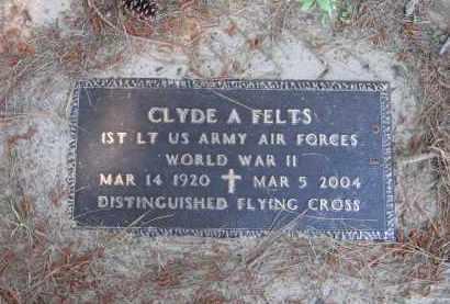 FELTS (VETERAN WWII), CLYDE ALTON - Lawrence County, Arkansas   CLYDE ALTON FELTS (VETERAN WWII) - Arkansas Gravestone Photos